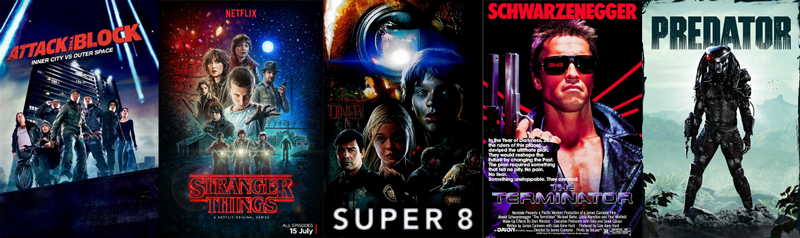 Near Future and the Fantastic Now - Attack the Block, Stranger Things, Super 8, Terminator, Predator
