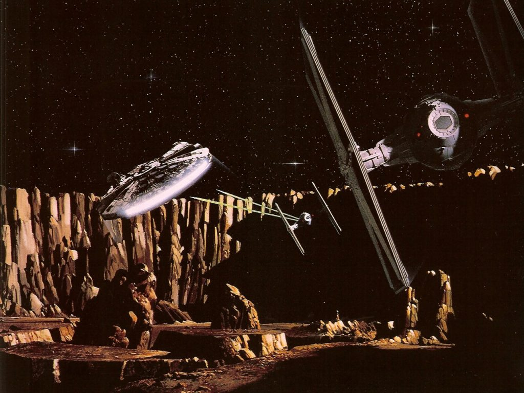 The classic chase from Empire Strikes Back