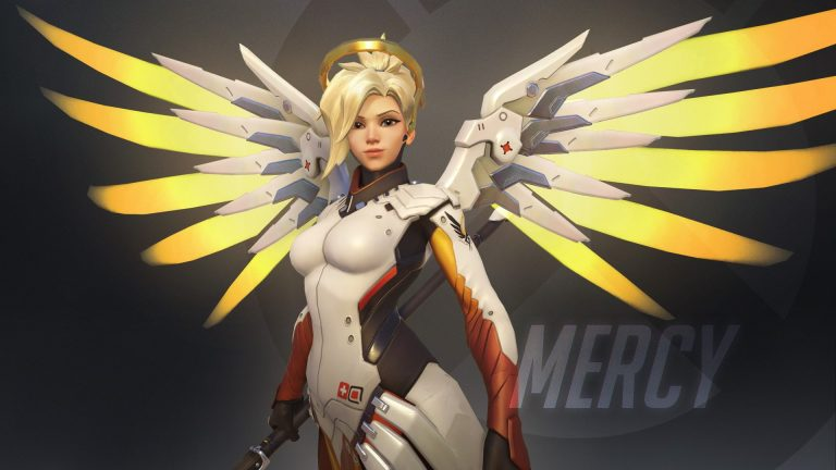 Mercy from Overwatch, showing what a Lawful Good soldier with the Planar Ethic style might look like