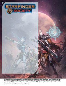 Starfinder Society flyer