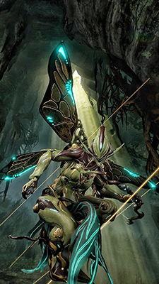 Warframe art - a game that plays a bit with the Fairy Court