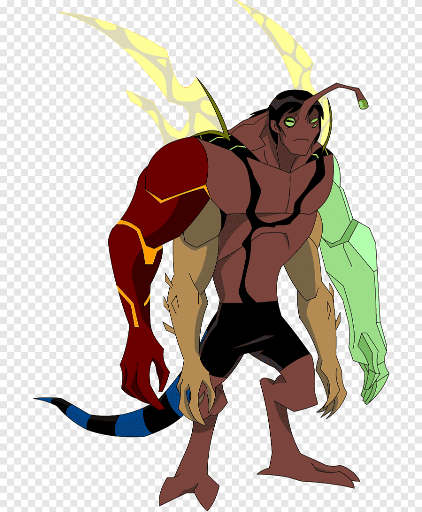 Kevin Levin from Ben 10, looking very totemed out