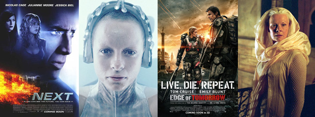 Scifi Precog movies (Next, Minority Report, Edge of Tomorrow, Chronicles of Riddick)