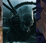 Right to left: Treasure Planet, Star Trek TOS, Aliens Covenant, Titan A.E., and Farscape