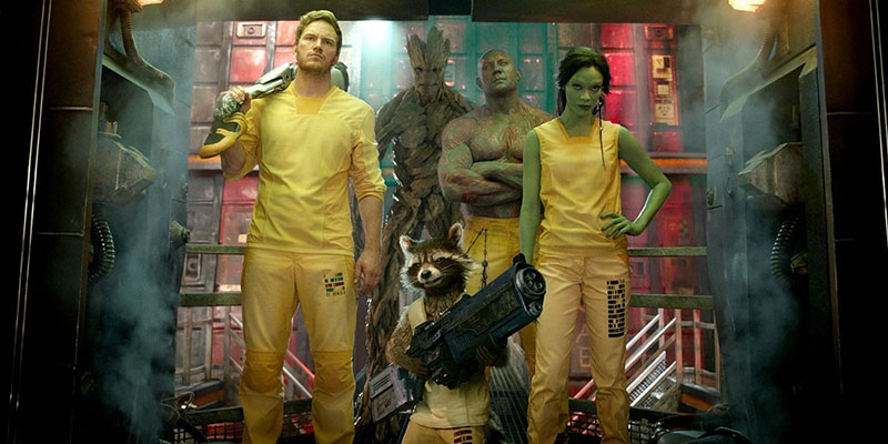 a ragtag bunch of space criminals from Guardians of the Galaxy