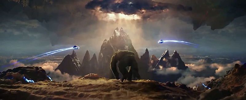 Kong and the HEAVs from Godzilla Vs Kong