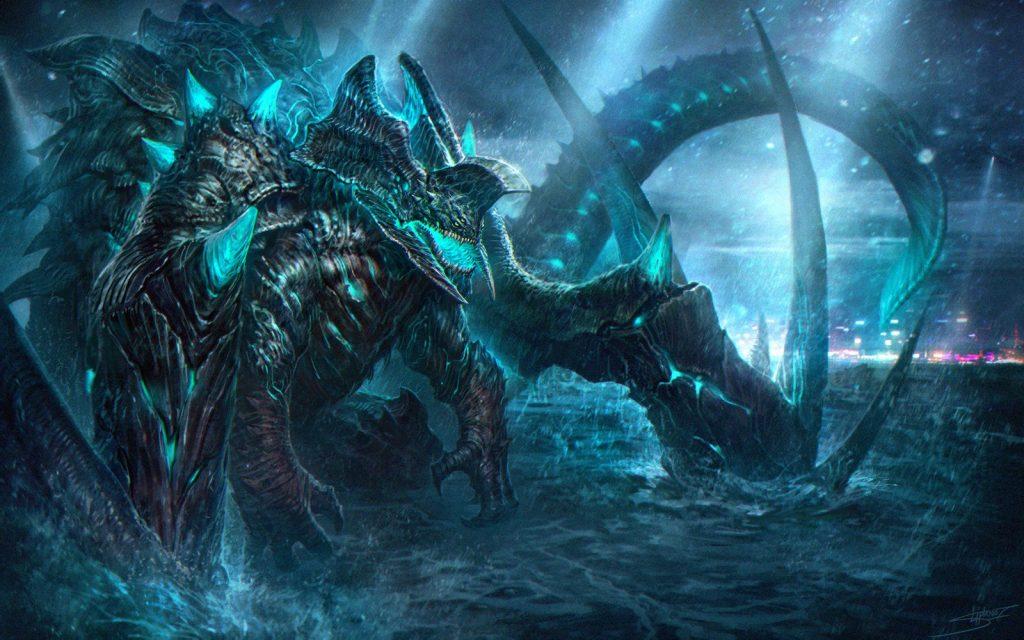 Kaiju concept art from Pacific Rim