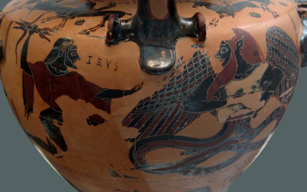 Zeus confronts Typhon