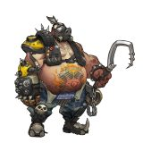Roadhog concept art by Arnold Tsang for Overwatch